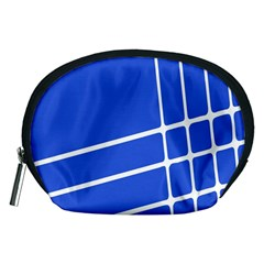 Line Stripes Blue Accessory Pouches (medium)  by Mariart