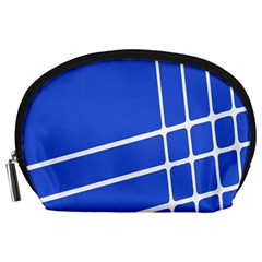Line Stripes Blue Accessory Pouches (large)  by Mariart