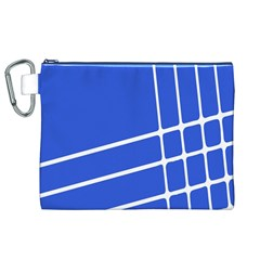 Line Stripes Blue Canvas Cosmetic Bag (xl) by Mariart