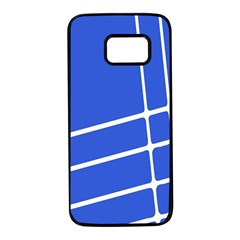 Line Stripes Blue Samsung Galaxy S7 Black Seamless Case by Mariart