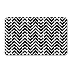 Funky Chevron Stripes Triangles Magnet (rectangular) by Mariart