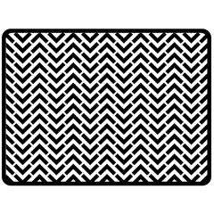 Funky Chevron Stripes Triangles Double Sided Fleece Blanket (large)  by Mariart