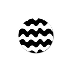 Lokki Cotton White Black Waves Golf Ball Marker (10 Pack) by Mariart