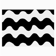 Lokki Cotton White Black Waves Large Glasses Cloth by Mariart