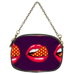 Lip Vector Hipster Example Image Star Sexy Purple Red Chain Purses (two Sides)  by Mariart