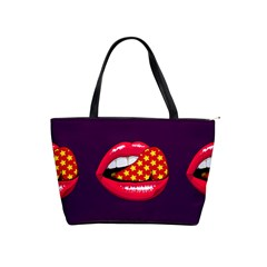 Lip Vector Hipster Example Image Star Sexy Purple Red Shoulder Handbags by Mariart
