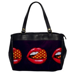 Lip Vector Hipster Example Image Star Sexy Purple Red Office Handbags by Mariart