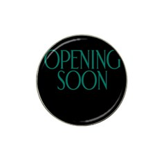 Opening Soon Sign Hat Clip Ball Marker (4 Pack) by Mariart