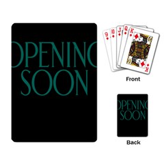 Opening Soon Sign Playing Card by Mariart