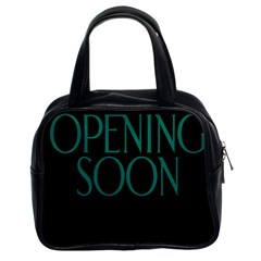 Opening Soon Sign Classic Handbags (2 Sides) by Mariart