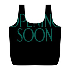 Opening Soon Sign Full Print Recycle Bags (l)  by Mariart