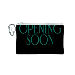 Opening Soon Sign Canvas Cosmetic Bag (s) by Mariart