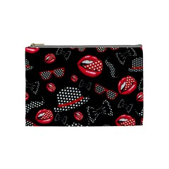 Lip Hat Vector Hipster Example Image Star Sexy Black Red Cosmetic Bag (medium)  by Mariart