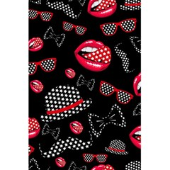 Lip Hat Vector Hipster Example Image Star Sexy Black Red 5 5  X 8 5  Notebooks by Mariart