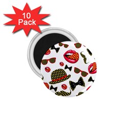 Lip Hat Vector Hipster Example Image Star Sexy 1 75  Magnets (10 Pack)  by Mariart