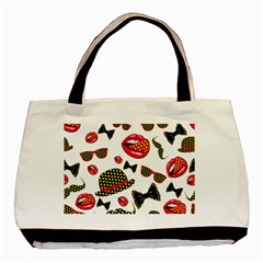 Lip Hat Vector Hipster Example Image Star Sexy Basic Tote Bag by Mariart