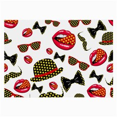 Lip Hat Vector Hipster Example Image Star Sexy Large Glasses Cloth (2 Side) by Mariart