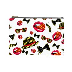 Lip Hat Vector Hipster Example Image Star Sexy Cosmetic Bag (large)  by Mariart