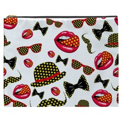 Lip Hat Vector Hipster Example Image Star Sexy Cosmetic Bag (xxxl)  by Mariart