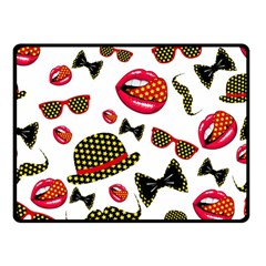 Lip Hat Vector Hipster Example Image Star Sexy Double Sided Fleece Blanket (small)  by Mariart