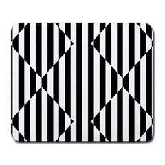 Optical Illusion Inverted Diamonds Large Mousepads by Mariart