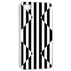 Optical Illusion Inverted Diamonds Apple Iphone 4/4s Seamless Case (white) by Mariart