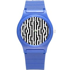 Optical Illusion Inverted Diamonds Round Plastic Sport Watch (s) by Mariart