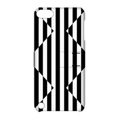 Optical Illusion Inverted Diamonds Apple Ipod Touch 5 Hardshell Case With Stand by Mariart