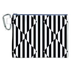 Optical Illusion Inverted Diamonds Canvas Cosmetic Bag (xxl) by Mariart