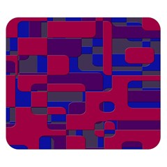 Offset Puzzle Rounded Graphic Squares In A Red And Blue Colour Set Double Sided Flano Blanket (small)  by Mariart