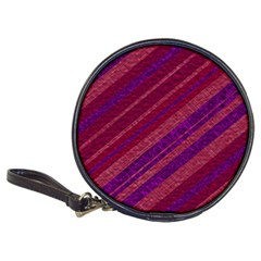 Maroon Striped Texture Classic 20 Cd Wallets by Mariart