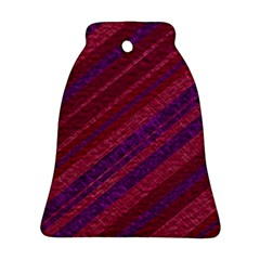 Maroon Striped Texture Ornament (bell) by Mariart