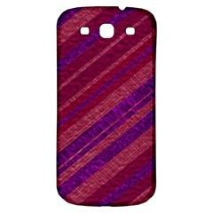 Maroon Striped Texture Samsung Galaxy S3 S Iii Classic Hardshell Back Case by Mariart