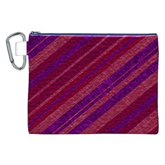 Maroon Striped Texture Canvas Cosmetic Bag (xxl) by Mariart