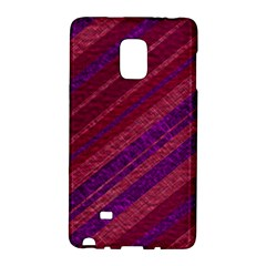 Maroon Striped Texture Galaxy Note Edge by Mariart