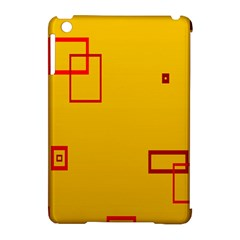 Overlap Squares Orange Plaid Red Apple Ipad Mini Hardshell Case (compatible With Smart Cover) by Mariart