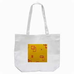 Overlap Squares Orange Plaid Red Tote Bag (white) by Mariart
