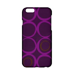 Original Circle Purple Brown Apple Iphone 6/6s Hardshell Case by Mariart