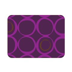 Original Circle Purple Brown Double Sided Flano Blanket (mini)  by Mariart
