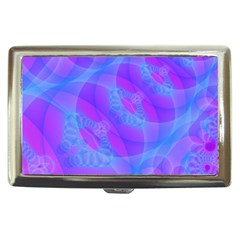 Original Purple Blue Fractal Composed Overlapping Loops Misty Translucent Cigarette Money Cases by Mariart