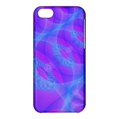 Original Purple Blue Fractal Composed Overlapping Loops Misty Translucent Apple Iphone 5c Hardshell Case by Mariart