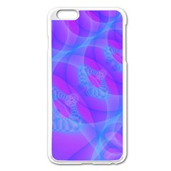 Original Purple Blue Fractal Composed Overlapping Loops Misty Translucent Apple Iphone 6 Plus/6s Plus Enamel White Case by Mariart