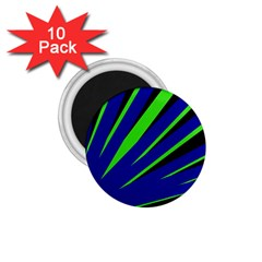 Rays Light Chevron Blue Green Black 1 75  Magnets (10 Pack)  by Mariart