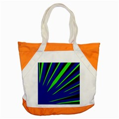 Rays Light Chevron Blue Green Black Accent Tote Bag by Mariart