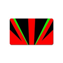 Rays Light Chevron Green Red Black Magnet (name Card) by Mariart