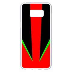 Rays Light Chevron Green Red Black Samsung Galaxy S8 Plus White Seamless Case