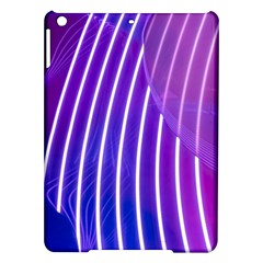 Rays Light Chevron Blue Purple Line Light Ipad Air Hardshell Cases by Mariart