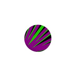 Rays Light Chevron Purple Green Black 1  Mini Magnets by Mariart