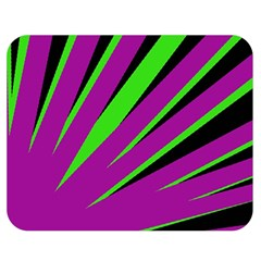 Rays Light Chevron Purple Green Black Double Sided Flano Blanket (medium)  by Mariart