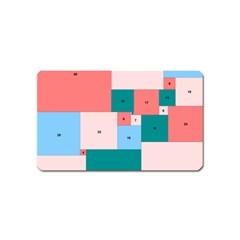 Simple Perfect Squares Squares Order Magnet (name Card) by Mariart